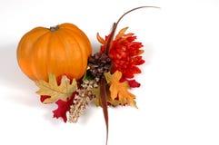 Kürbis in der Herbsteinstellung Stockfotos