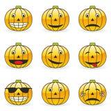 Kürbis Emoticons Lizenzfreies Stockfoto