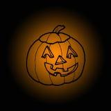 Kürbis in Halloween Stockbild