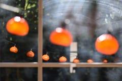 Kürbis-Halloween-Girlande Stockfotografie