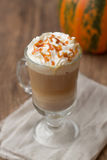 Kürbis Latte stockfoto