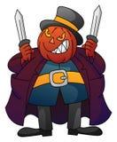 Kürbis-Monster mit Messer vektor abbildung