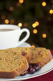 Kürbis-Moosbeere-Brot Lizenzfreies Stockfoto