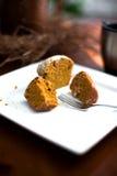 Kürbis-Muffin lizenzfreie stockfotos