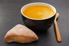 Kürbis-Suppe-süße Kartoffel-Karotte Lizenzfreie Stockfotografie