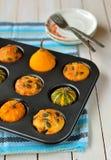 Kürbis-und Käse-Muffins Lizenzfreie Stockbilder