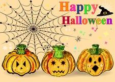 Kürbise Glückliches Halloween Lizenzfreie Stockbilder