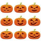 Kürbise Stellen Sie für Halloween ein stock abbildung