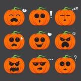 Kürbisgesichts-Gefühldesign für Halloween-Tag Lizenzfreie Stockfotografie