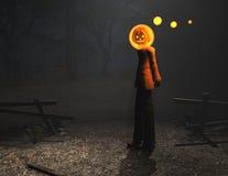 Kürbismann-Halloween-Zeichen Lizenzfreies Stockfoto