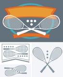 Kürbisspielball und -schläger Stockbilder