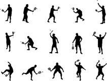 Kürbisspielerschattenbilder Lizenzfreie Stockfotos