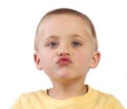 Küsse des Sohns Lizenzfreies Stockbild