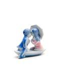 Küssen der Geliebter Keramische Figürchen Stockfotografie