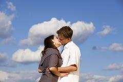Küssen der Jugendlicher Lizenzfreie Stockfotografie