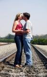 Küssen der Paare Lizenzfreie Stockbilder