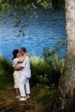 Küssen der Paare Lizenzfreie Stockfotografie