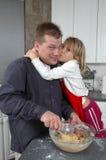 Küssen Sie den Koch lizenzfreie stockfotos