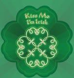 Küssen Sie mich, den ich irisch bin Lizenzfreie Stockbilder