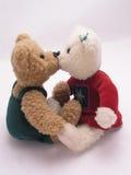 Küssen von Bären 3 Stockfotos