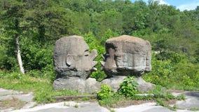 Küssen von Felsen Stockfotos