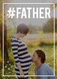 Küssender Bauch des jungen Vaters seiner schwangeren Frau Dieses ist Datei des Formats EPS10 Lizenzfreie Stockfotografie