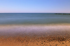 Küste auf dem Seestrand Stockbild