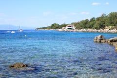 Küste auf Krk-Insel, Kroatien Lizenzfreie Stockbilder