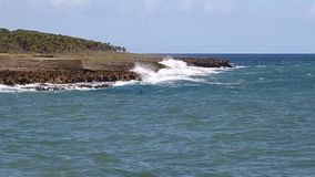Küste in Baracoa stock footage