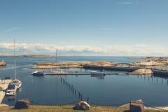 Küste bei Verdens Ende, Norwegen stockbild