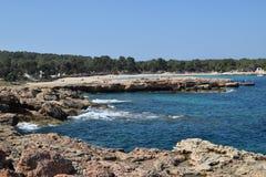 Küste 2 Calas Bassa lizenzfreies stockbild
