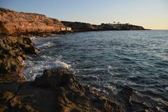 Küste Calas Conta lizenzfreies stockbild