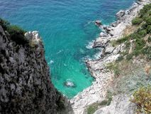 Küste Capri Lizenzfreies Stockbild