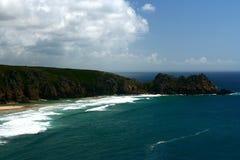 Küste in Cornwall England Stockfotografie