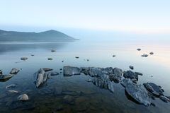 Küste, der Baikalsee, Russland Stockfotografie