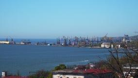 Küste der Hafenstadt stock footage
