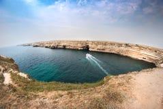 Küste der Halbinsel Tarhankut Stockbilder