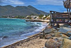Küste in der Heilig-Maarten-Insel stockfoto