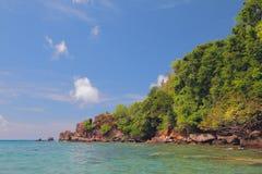 Küste der indischen Bucht Kingstown, Heiliges-Vicent Lizenzfreie Stockfotografie
