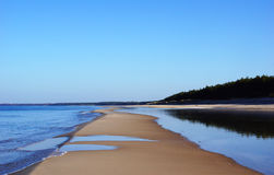 Küste der Ostsee Stockbild