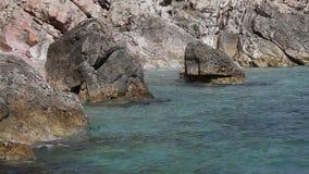 Küste des adriatischen Meeres stock footage