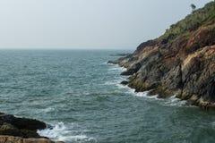 Küste des adriatischen Meeres in Indien Stockfoto