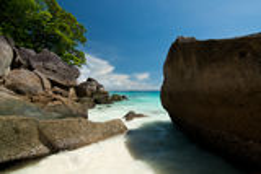 Küste des Andaman-Meeres lizenzfreies stockbild