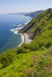 Küste des baskischen Landes Stockbild