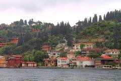 Küste des Bosphorus in Istanbul Lizenzfreie Stockfotografie