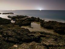 Küste des Mondscheins Lizenzfreies Stockfoto