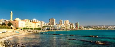 Küste des Reifens im Libanon stockfotografie