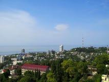 Küste des Schwarzen Meers. Stockfotografie