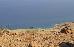 Küste des Toten Meers nahe Ein Gedi stockfoto