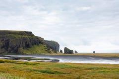 Küste in Dorf Vik I Myrdal in Island Stockfoto